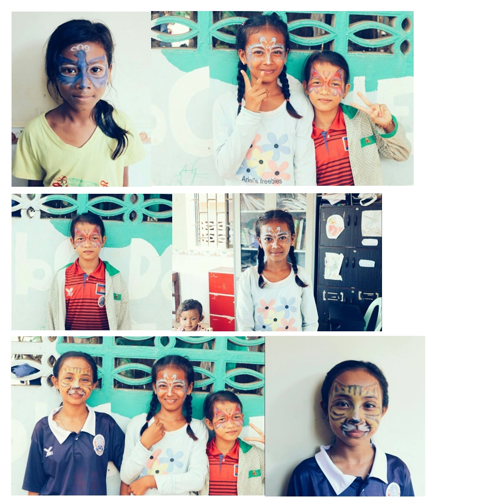 Facepainting at SCAO2 - Save poor Children in Asia Organization (S.C.A.O.)
